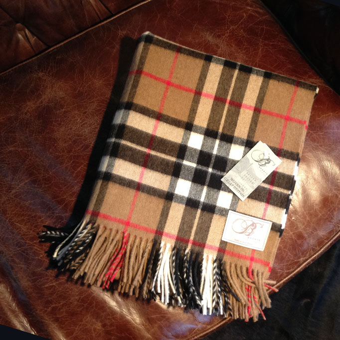 Traditional Soft Merino Lambswool Plaid THOMSON Karo